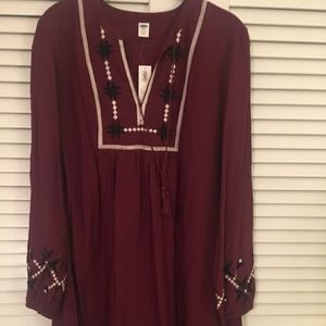 Old Navy embroidered dress, medium/tall